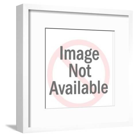 Cupid Shooting Heart Arrow-Pop Ink - CSA Images-Framed Art Print