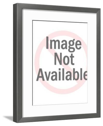 Ship in Rough Seas-Pop Ink - CSA Images-Framed Art Print