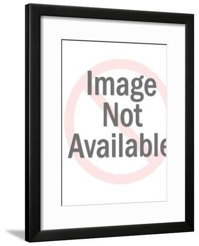 Sexy Dark Haired Woman-Pop Ink - CSA Images-Framed Art Print