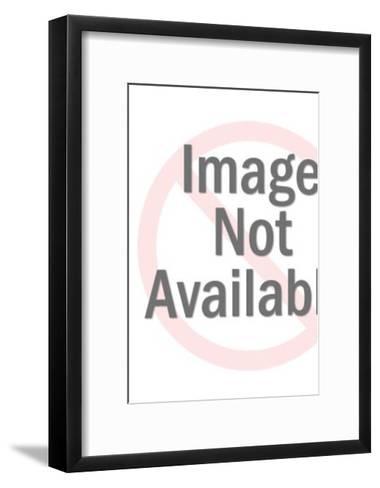 Man Sawing Wood-Pop Ink - CSA Images-Framed Art Print