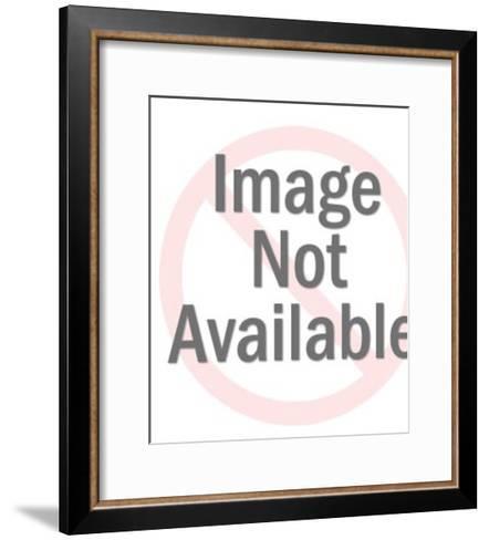 Man Standing Holding Drink-Pop Ink - CSA Images-Framed Art Print
