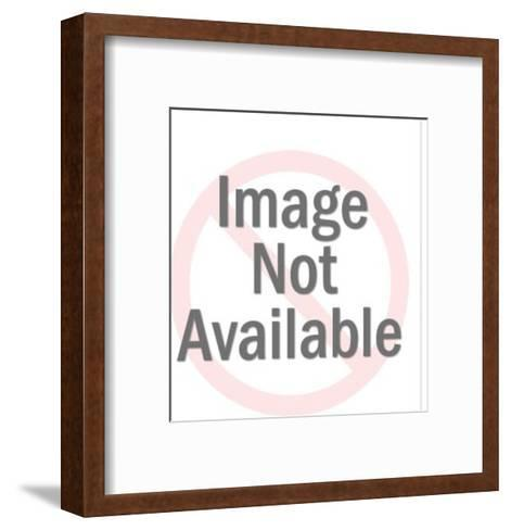 Man Attacking Lion-Pop Ink - CSA Images-Framed Art Print