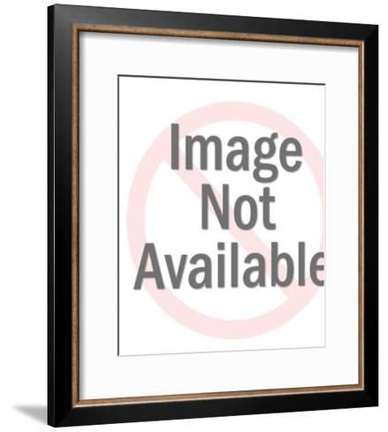 Owl on Branch-Pop Ink - CSA Images-Framed Art Print