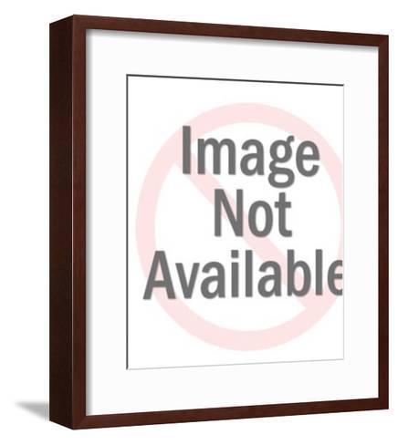 Lion Growling-Pop Ink - CSA Images-Framed Art Print