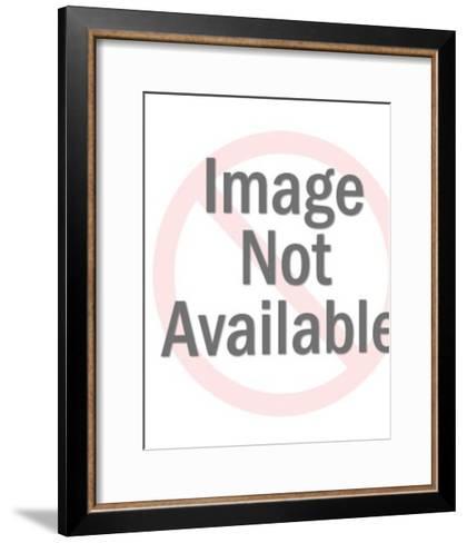 Cowboy on Bucking Horse-Pop Ink - CSA Images-Framed Art Print