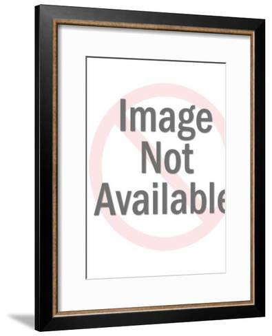 Nude Couple in Bed With Handcuffs-Pop Ink - CSA Images-Framed Art Print