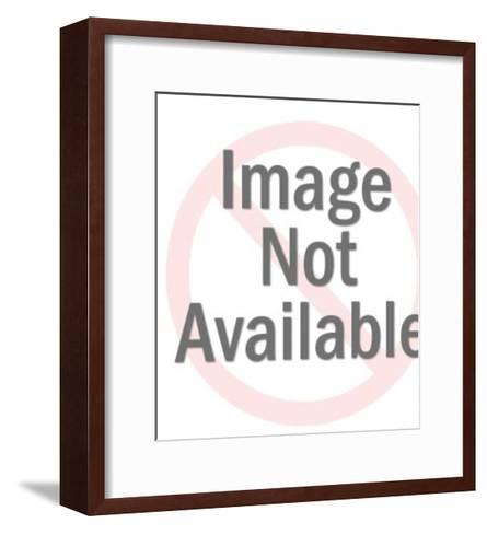 Santa Holding Large List-Pop Ink - CSA Images-Framed Art Print
