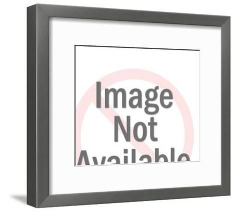 People at Restaurant-Pop Ink - CSA Images-Framed Art Print