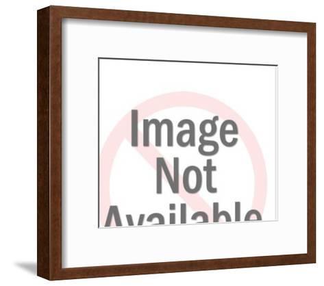Asian Woman Holding Fan-Pop Ink - CSA Images-Framed Art Print