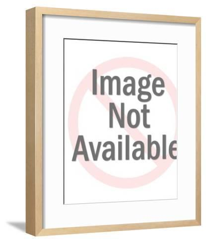 Man Trying to Hold Dark Haired Woman-Pop Ink - CSA Images-Framed Art Print