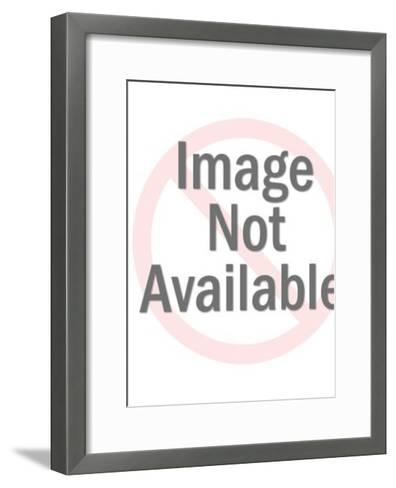Cat and Dog Valentine-Pop Ink - CSA Images-Framed Art Print
