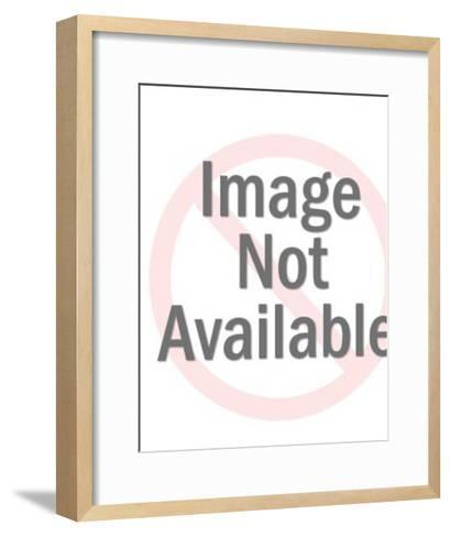 Nude Woman Looking At Magazine-Pop Ink - CSA Images-Framed Art Print