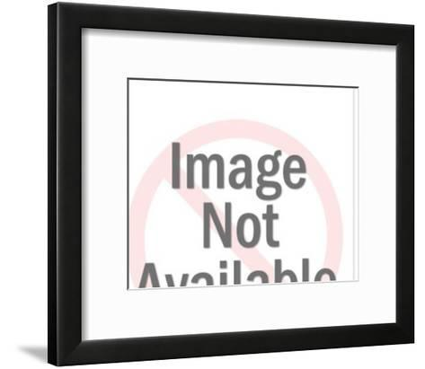 Woman on Television-Pop Ink - CSA Images-Framed Art Print