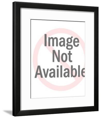Skeleton In Black Robe-Pop Ink - CSA Images-Framed Art Print