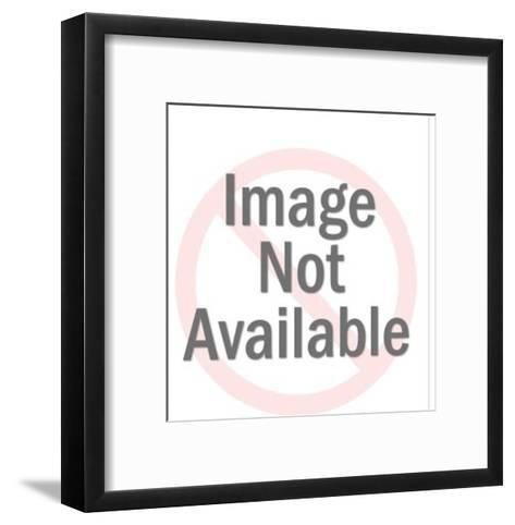 Man Eating Hot Soup-Pop Ink - CSA Images-Framed Art Print