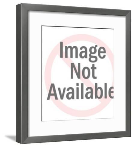 Man in Grey Suit Holding Drink-Pop Ink - CSA Images-Framed Art Print