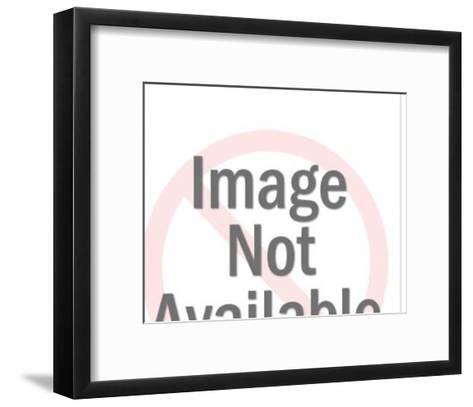 Man and Printing Press-Pop Ink - CSA Images-Framed Art Print