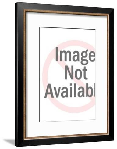Sexy Stewardess With Tray-Pop Ink - CSA Images-Framed Art Print