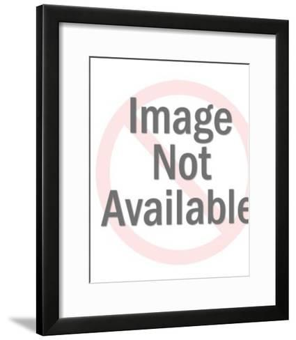 Woman Standing on a Scale-Pop Ink - CSA Images-Framed Art Print