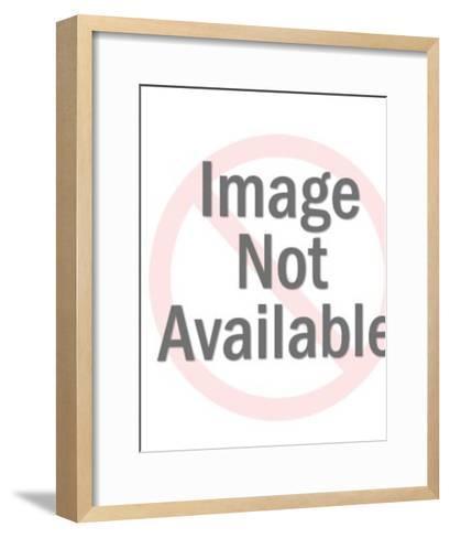 Fluffy White Dog-Pop Ink - CSA Images-Framed Art Print