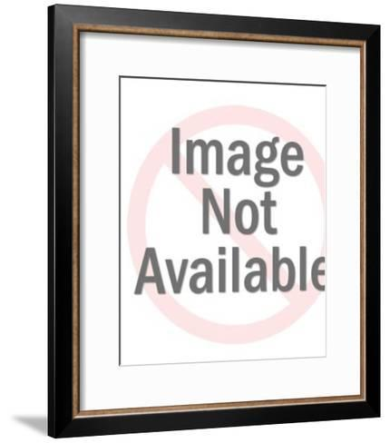 Man and Woman in fornt of Castle-Pop Ink - CSA Images-Framed Art Print