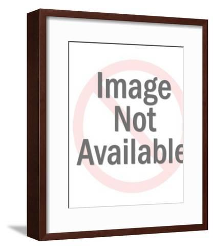 Woman Wearing Purple Bathing Suit-Pop Ink - CSA Images-Framed Art Print