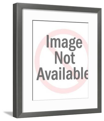 Proflle of Woman on Floral Background-Pop Ink - CSA Images-Framed Art Print