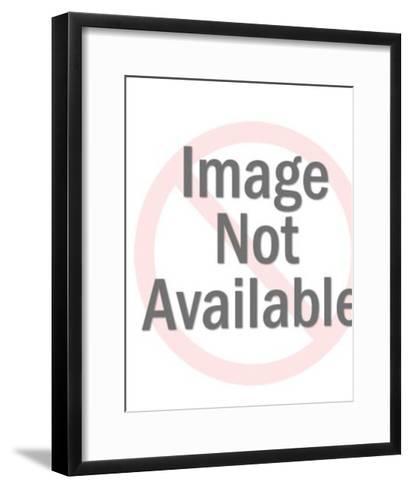 Marine Saluting-Pop Ink - CSA Images-Framed Art Print
