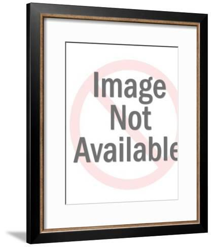 Woman Wearing White Dress and Holding Rose-Pop Ink - CSA Images-Framed Art Print