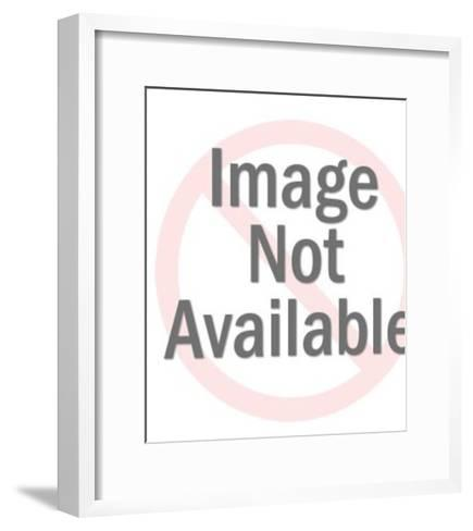 Woman's Foot Wearing Flip Flop Shoe-Pop Ink - CSA Images-Framed Art Print