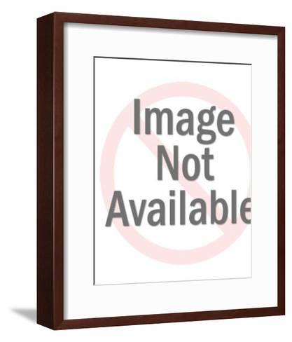 Blonde Girl With Big Eyes-Pop Ink - CSA Images-Framed Art Print