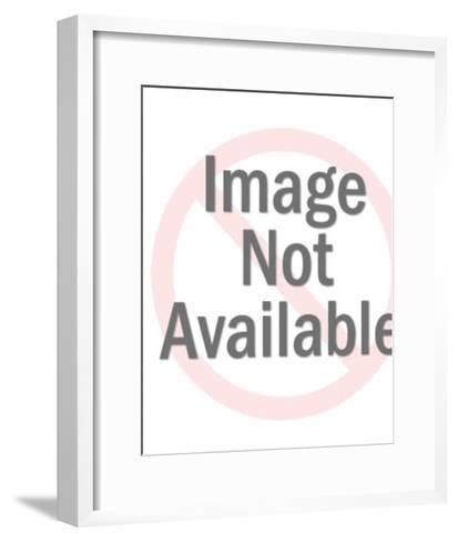 Rabbit Reading the Funnies-Pop Ink - CSA Images-Framed Art Print