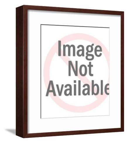 Pointing Man With Woman-Pop Ink - CSA Images-Framed Art Print