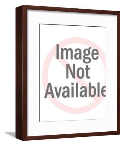 Strong Man Lifting Weights-Pop Ink - CSA Images-Framed Art Print