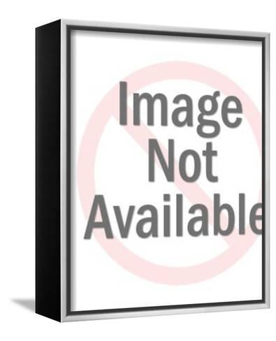 Cowboy Riding Bucking Bronco-Pop Ink - CSA Images-Framed Canvas Print