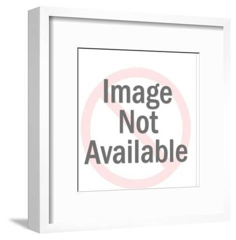 Cowboy Lassoing a Steer-Pop Ink - CSA Images-Framed Art Print