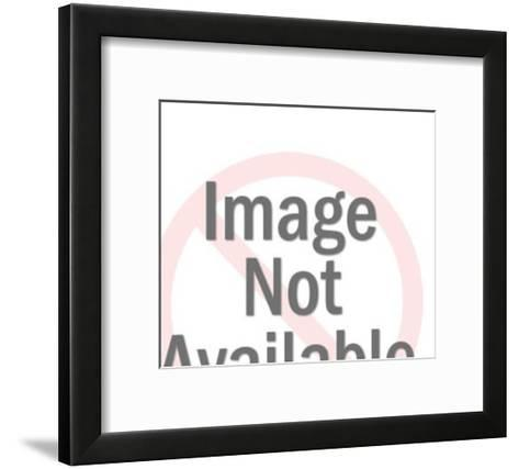 Pumpkin and Black Cat-Pop Ink - CSA Images-Framed Art Print
