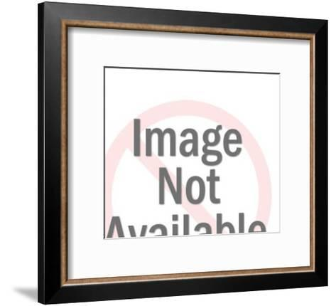 Woman Posing in a Bathing Suit-Pop Ink - CSA Images-Framed Art Print