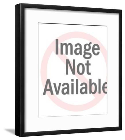Woman Sitting on a Pedestal-Pop Ink - CSA Images-Framed Art Print