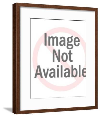 Gondola Going Under a Bridge-Pop Ink - CSA Images-Framed Art Print