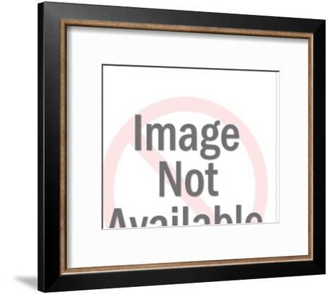 Man Pushing a Wheelbarrow-Pop Ink - CSA Images-Framed Art Print