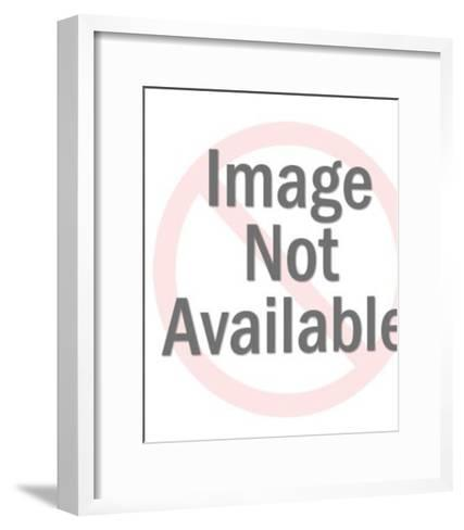Blonde Girl in Yellow Dress-Pop Ink - CSA Images-Framed Art Print