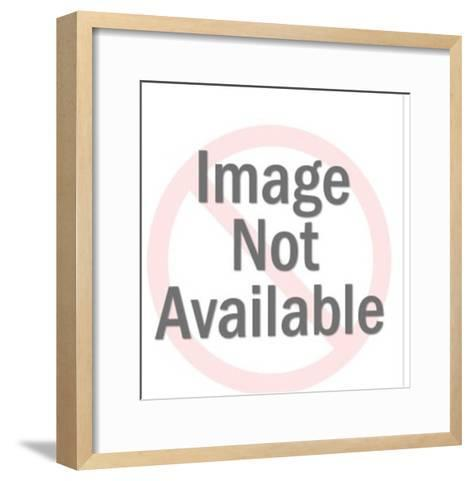 Man in Blue Rowboat-Pop Ink - CSA Images-Framed Art Print
