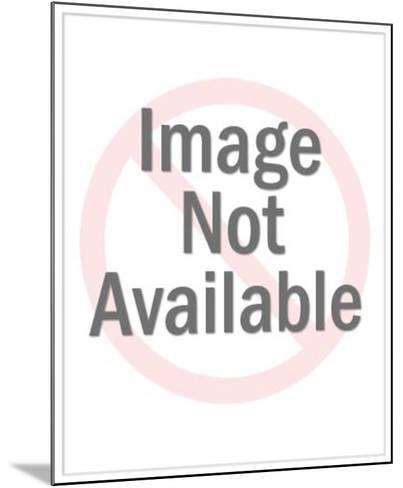 Baseball Catcher Wearing Mitt-Pop Ink - CSA Images-Mounted Photo