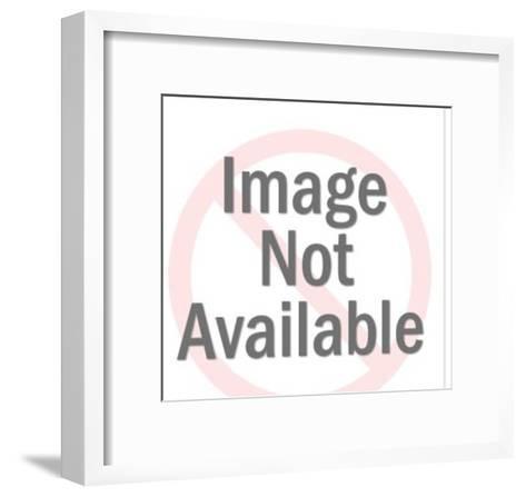 Two Men in Rowboat-Pop Ink - CSA Images-Framed Art Print