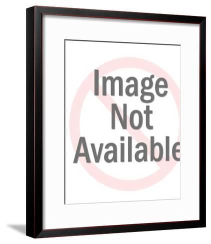 Tiger Cat Clock-Pop Ink - CSA Images-Framed Art Print