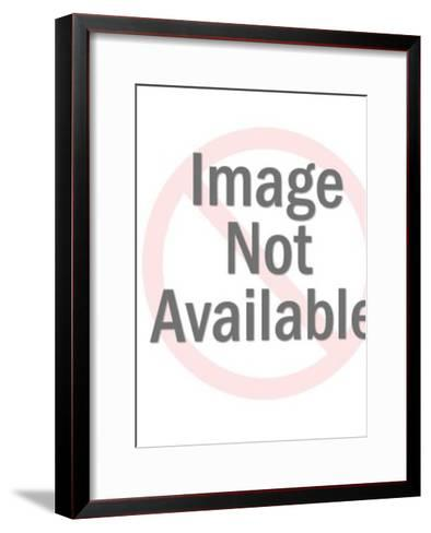 Santa Sitting on Chimney-Pop Ink - CSA Images-Framed Art Print