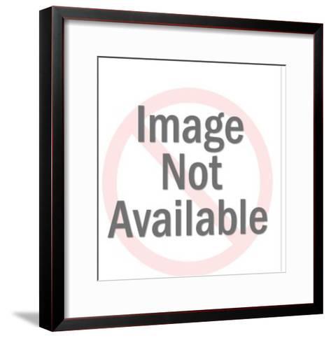 Santa Skiing-Pop Ink - CSA Images-Framed Art Print