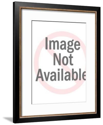 Smiling Man With Big Nose-Pop Ink - CSA Images-Framed Art Print