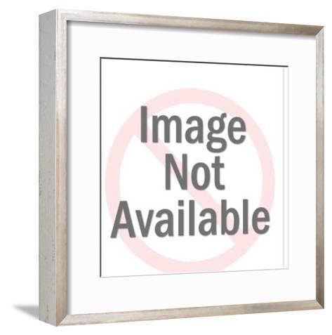 Man Driving Coins in Dump Truck-Pop Ink - CSA Images-Framed Art Print